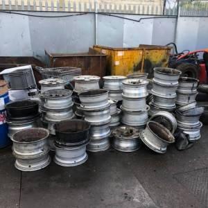 scrap alloy wheels